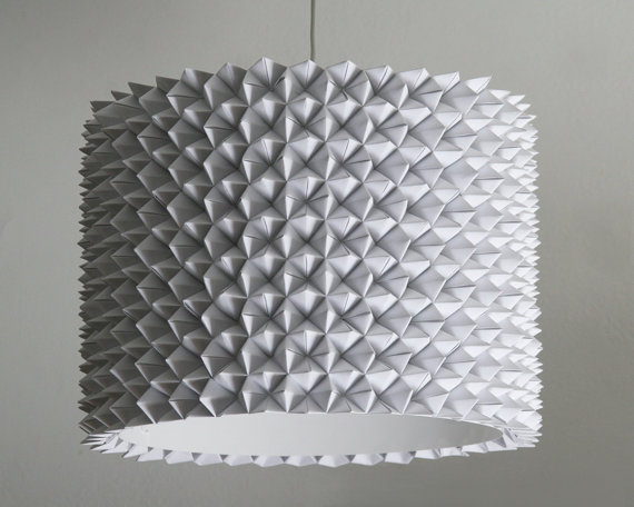 Faceted Drum Shade