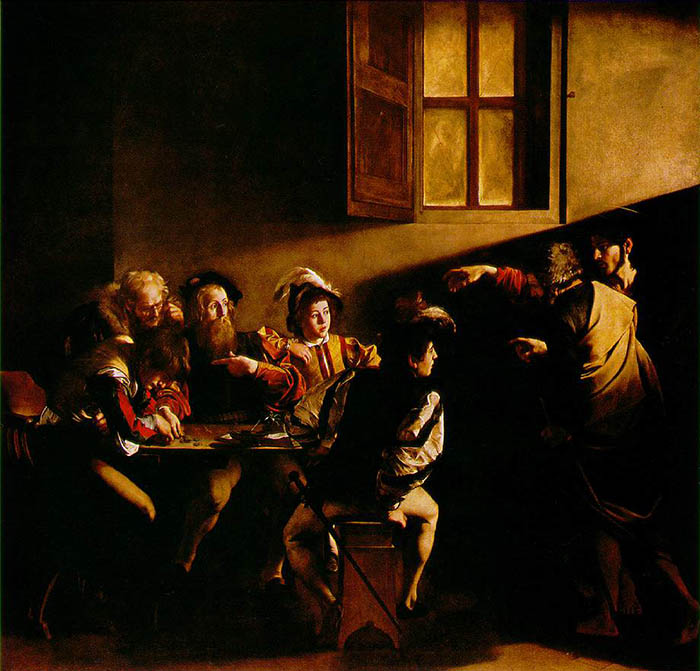 The Calling of Saint Matthew by Carvaggio