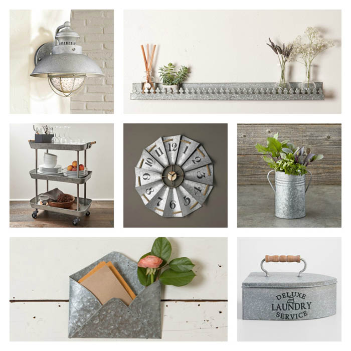 galvanized decor collage